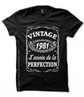 T-shirts 1981 Anniversaire style Whisky