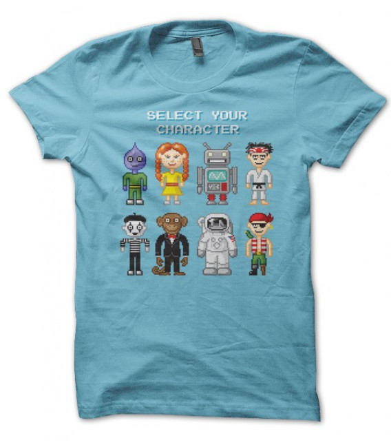 T-shirt Video Game Select Character by T-GeeK