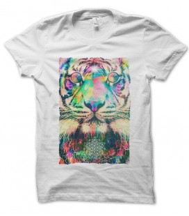 T-shirt Tigre Light, psychédélique Arts