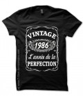 T-shirts 1986 Anniversaire style Whisky