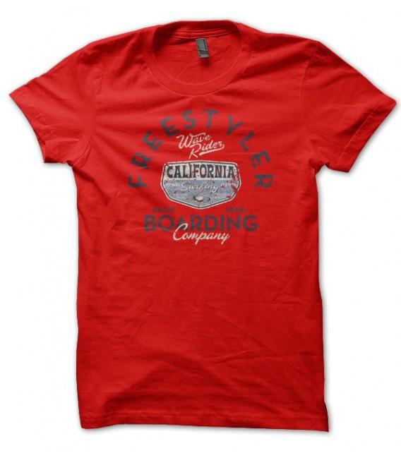 T-shirt Freestyler Wave Rider Surf Board Company California