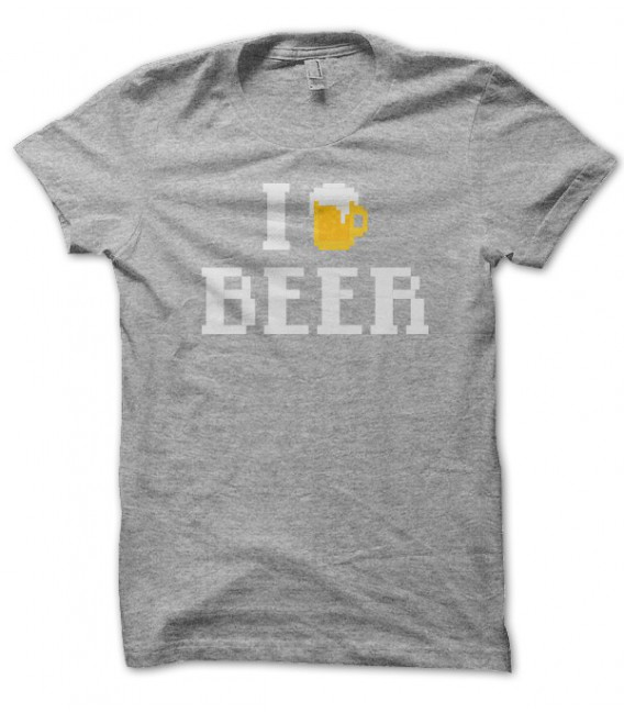 T-shirt I Love Beer ( J'adore la bière..)