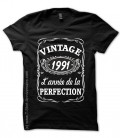 T-shirts 1991 Anniversaire style Whisky