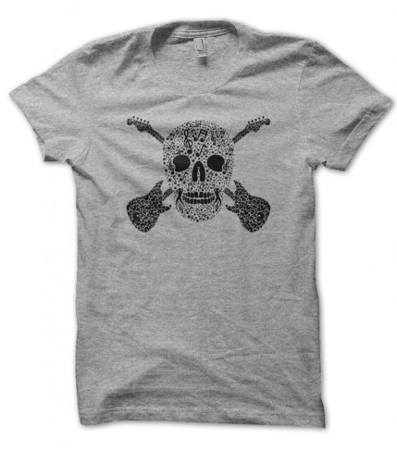 T-shirt Skull Rock and Guitares