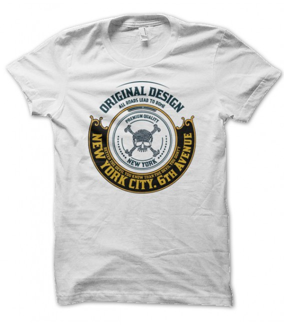 T-shirt New York City, 6th Avenue of HellHead