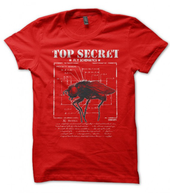 T-shirt Top Secret, Shéma secret du fonctionnement d'une mouche