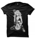 T-shirt Rock 'n Roll, The Girl with a guitare