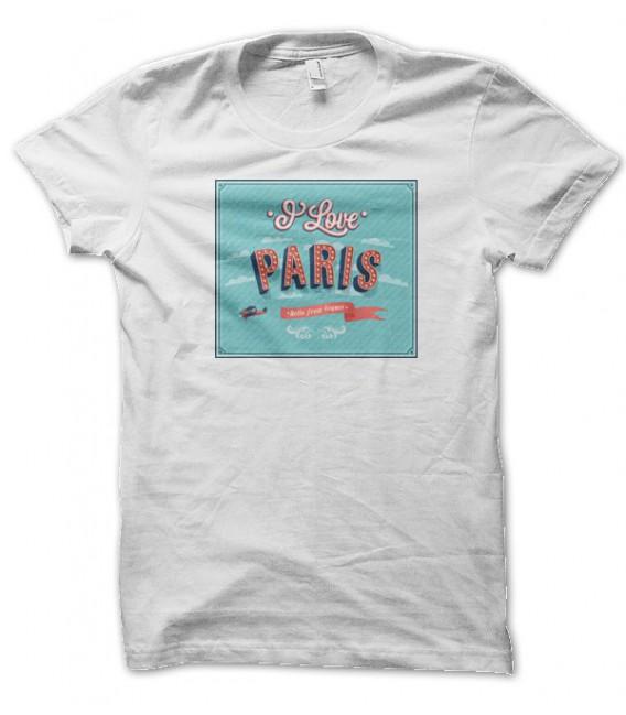 T-shirt Signs : I Love Paris