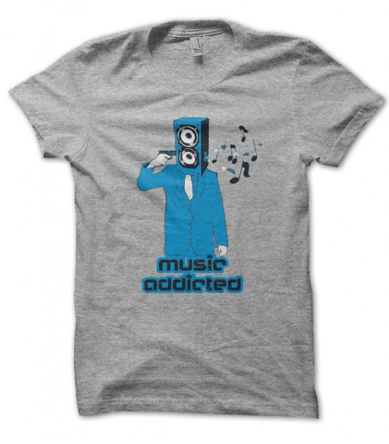 T-shirt Music Addicted
