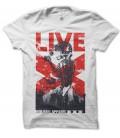 T-shirt Red Apparel, Live Skull Rock 'n Roll