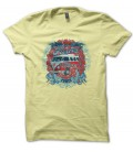 T-shirt Bus VW Flower Power, Surfing Trip