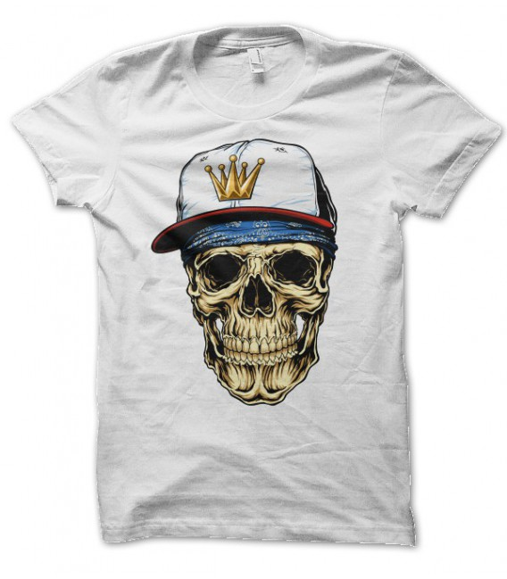 T-shirt Skul, King of Caps, Tête de Mort