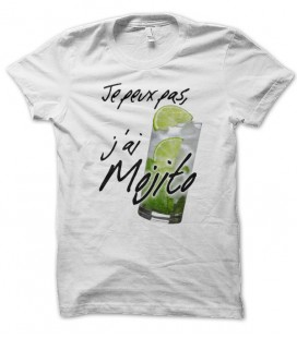 T-shirt Je peux pas, j'ai Mojito