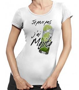 T-shirt Femme, Je peux pas, j'ai Mojito