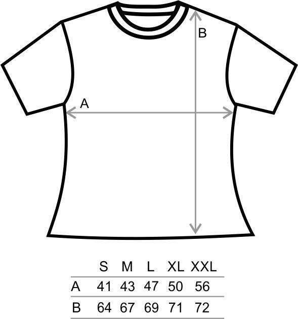 Mensuration Tee Shirt Femme
